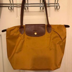 Medium Longchamp- canary yellow